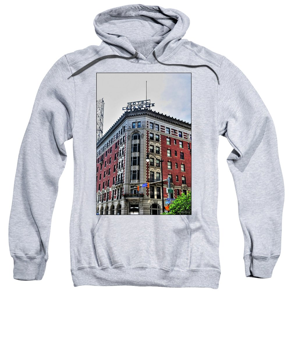 Sweatshirt featuring the photograph Hotel Lafayette Series 0001 by Michael Frank Jr