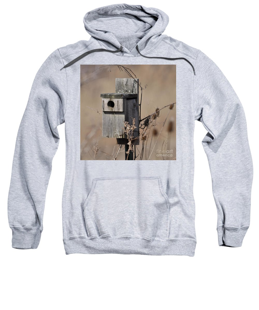 Bird House Sweatshirt featuring the photograph House For Rent by Ronald Grogan