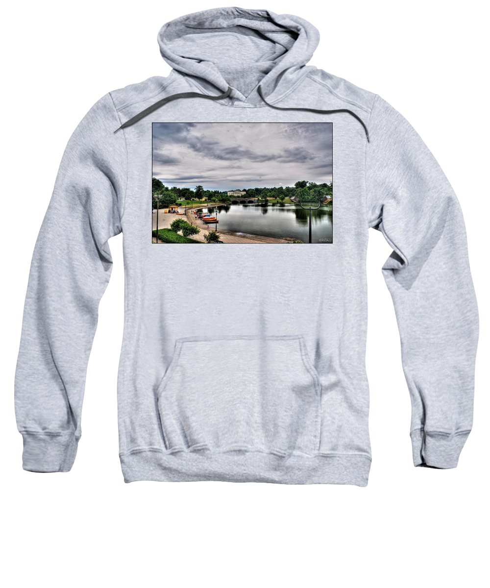 Sweatshirt featuring the photograph Hoyt Lake Delaware Park 0001 by Michael Frank Jr