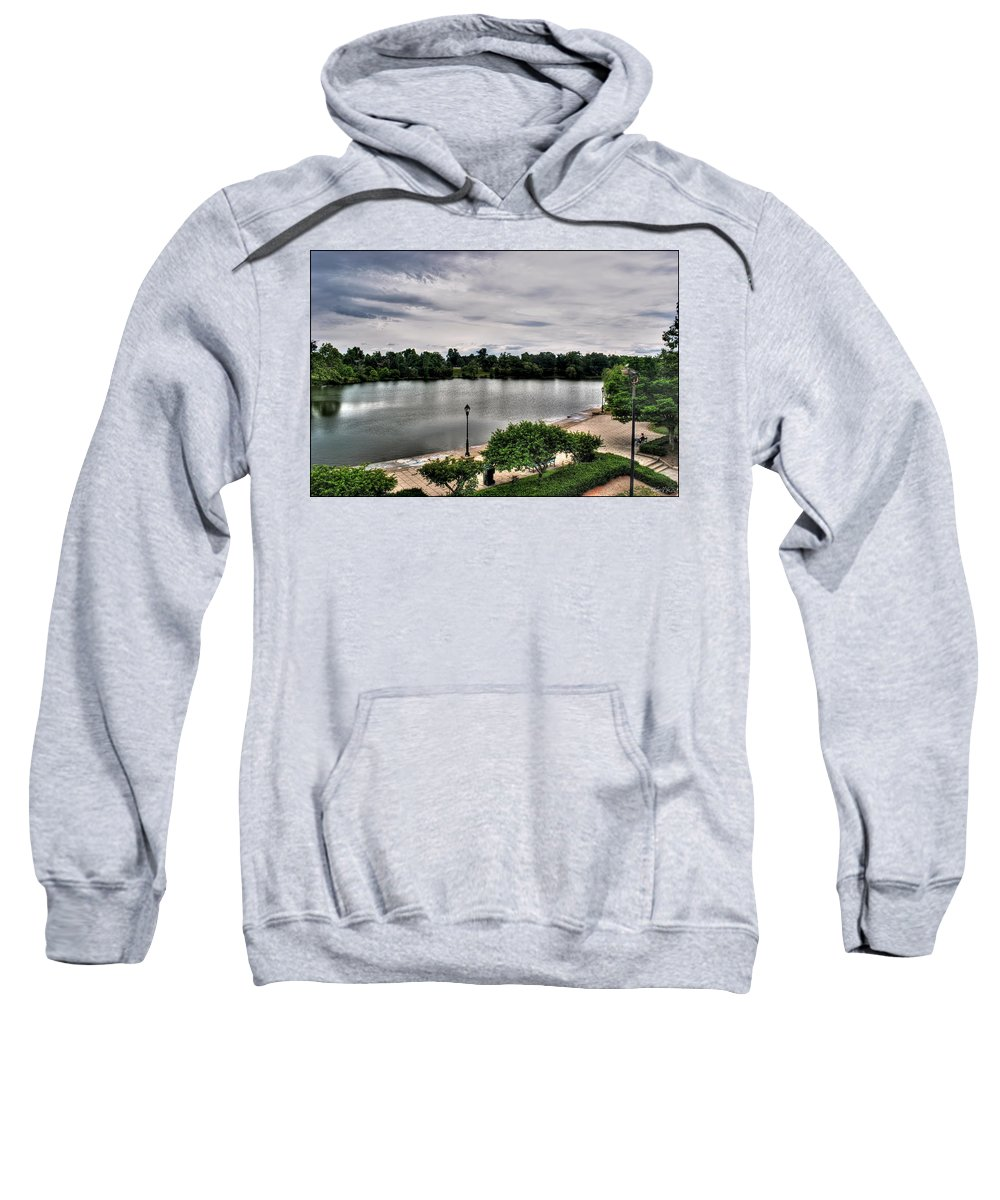 Sweatshirt featuring the photograph Hoyt Lake Delaware Park 0002 by Michael Frank Jr