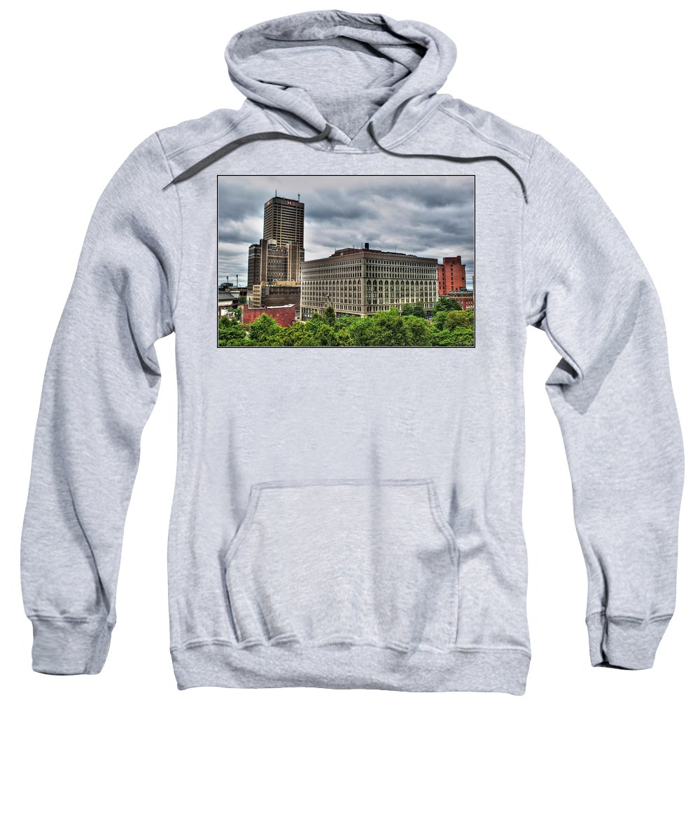 Sweatshirt featuring the photograph Hsbc Tower  Ellicott Square Buliding by Michael Frank Jr