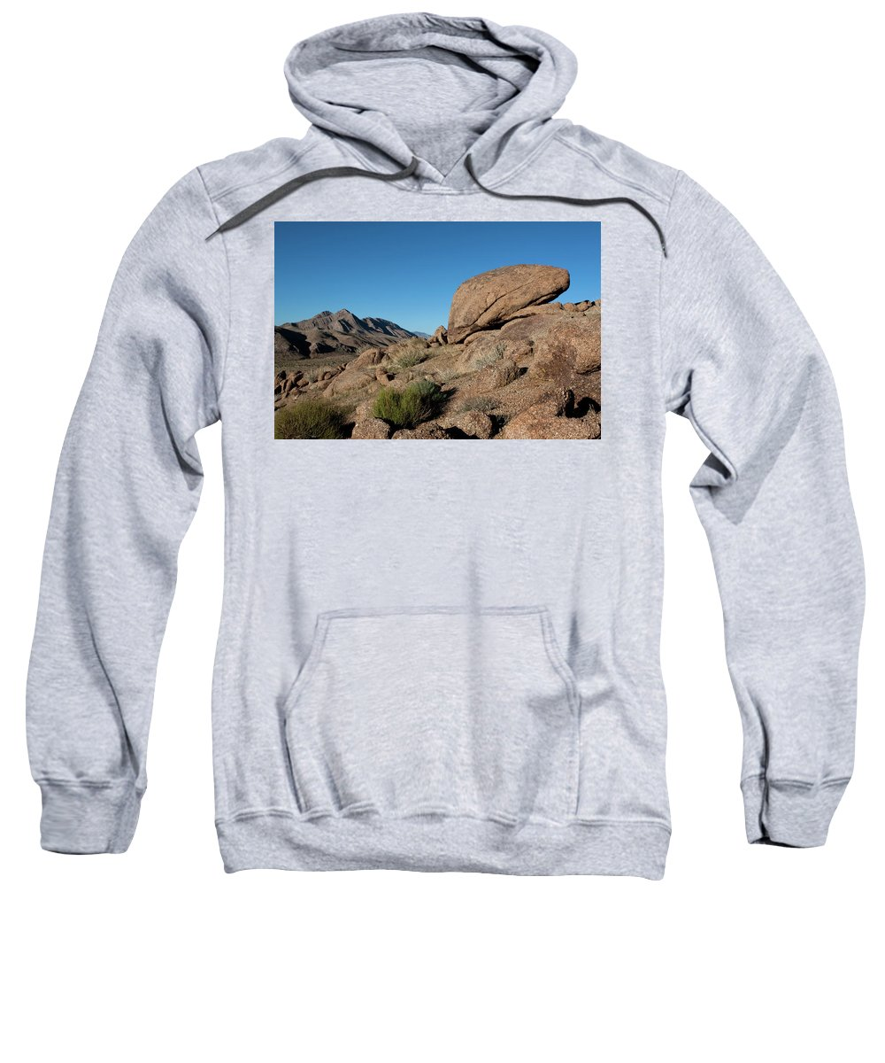 Gold Butte Region Sweatshirt featuring the photograph Humping Rock by Lorraine Devon Wilke