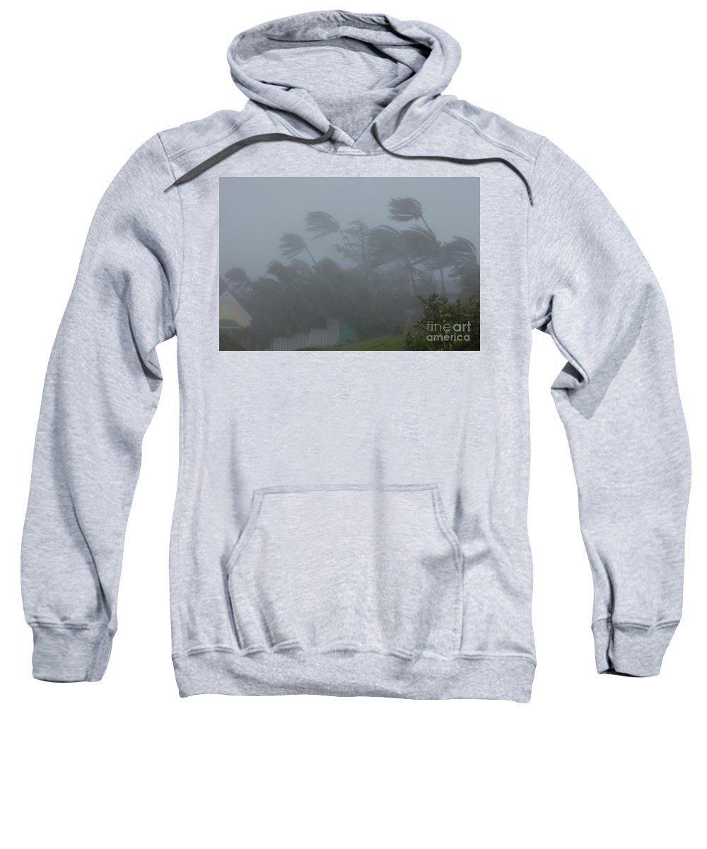Hurricane Irene Sweatshirt featuring the photograph Hurricane Irene by Jim Edds and Photo Researchers
