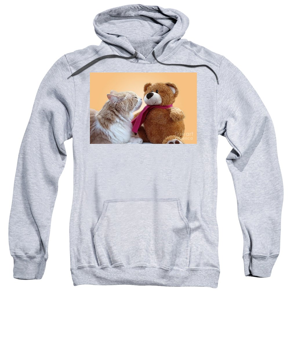 Love Sweatshirt featuring the photograph I Love You by Ellen Cotton