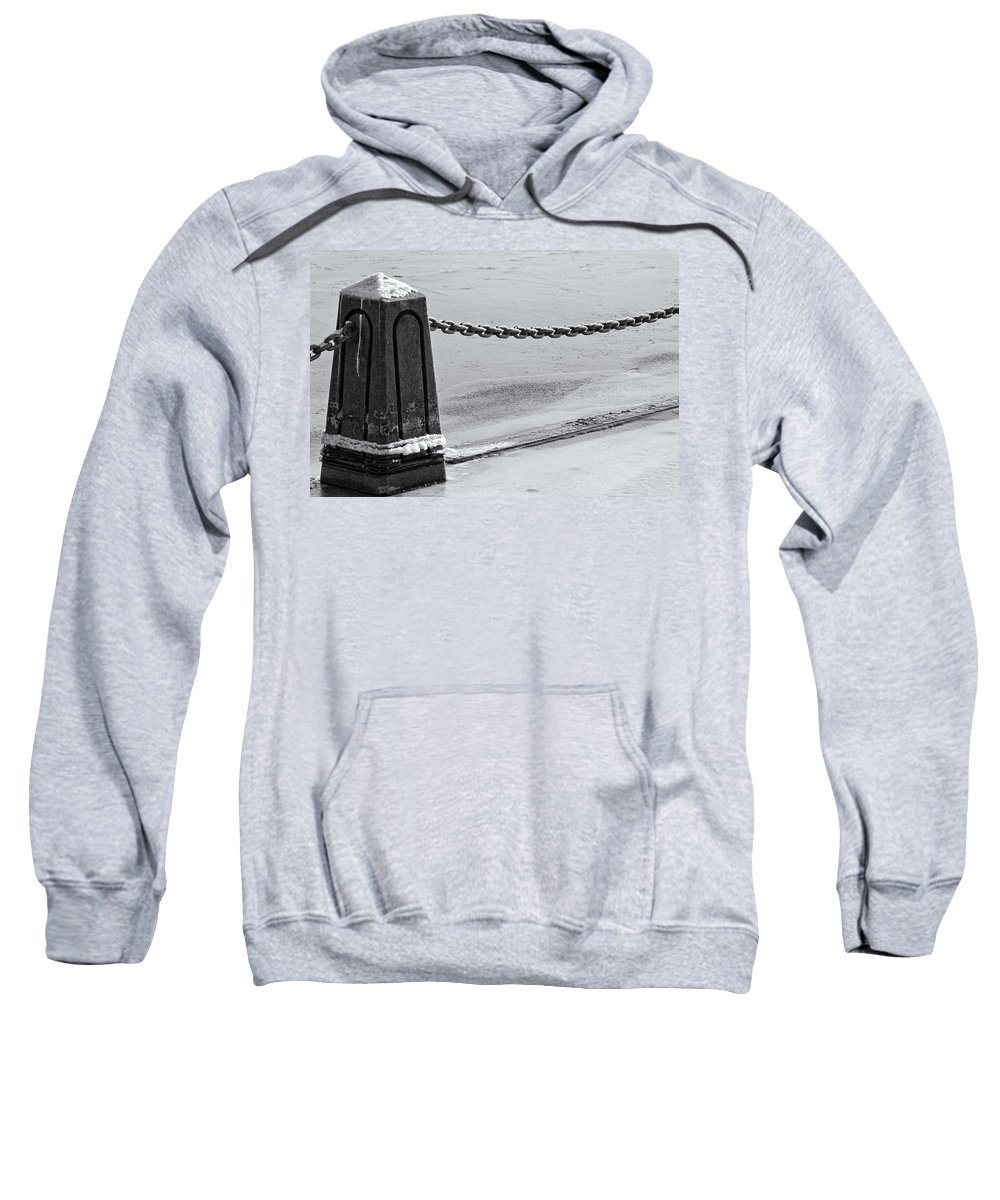 Americas Sweatshirt featuring the photograph Ice Barrier by Roderick Bley