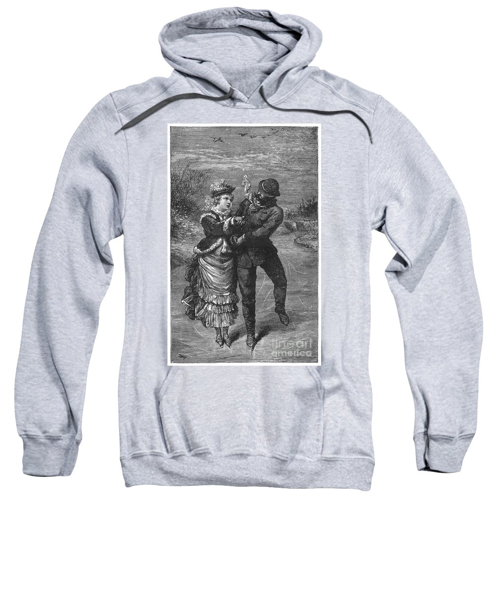19th Century Sweatshirt featuring the photograph Ice Skating, 19th Century by Granger