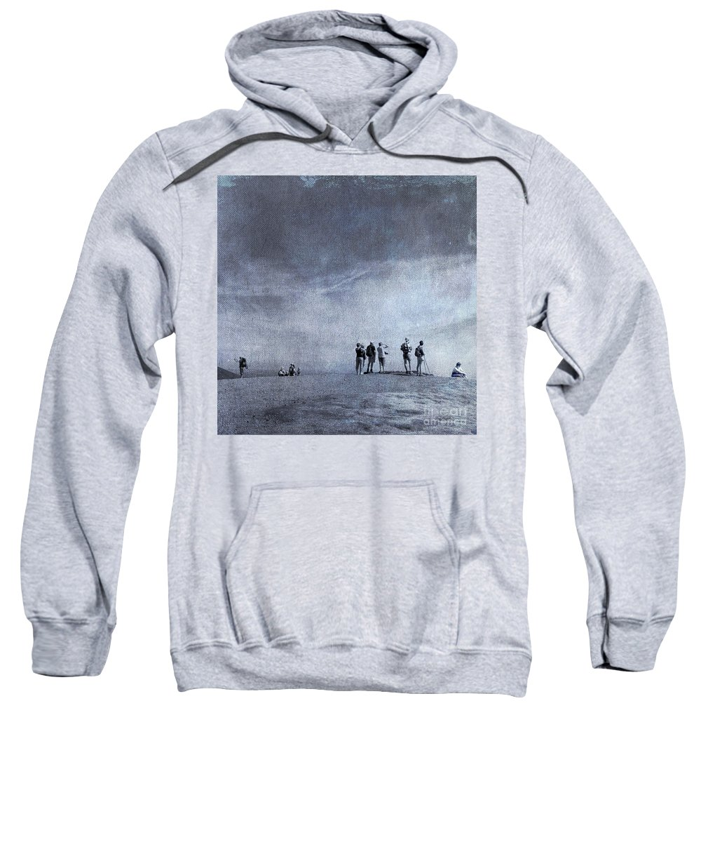 Beaches Sweatshirt featuring the photograph Illustration Of Tourist On Holiday by Bernard Jaubert