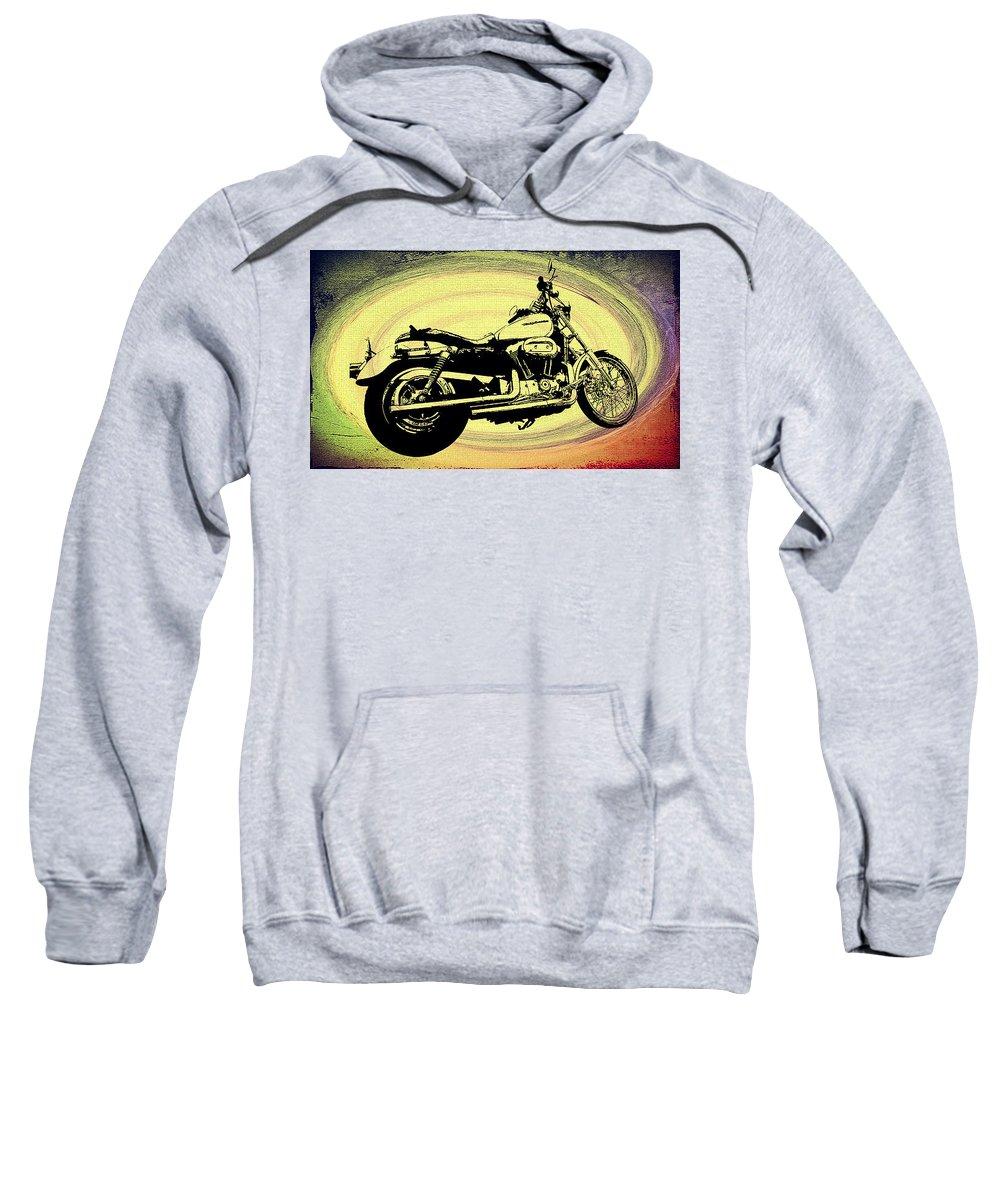 Vortex Sweatshirt featuring the photograph In The Vortex - Harley Davidson by Bill Cannon