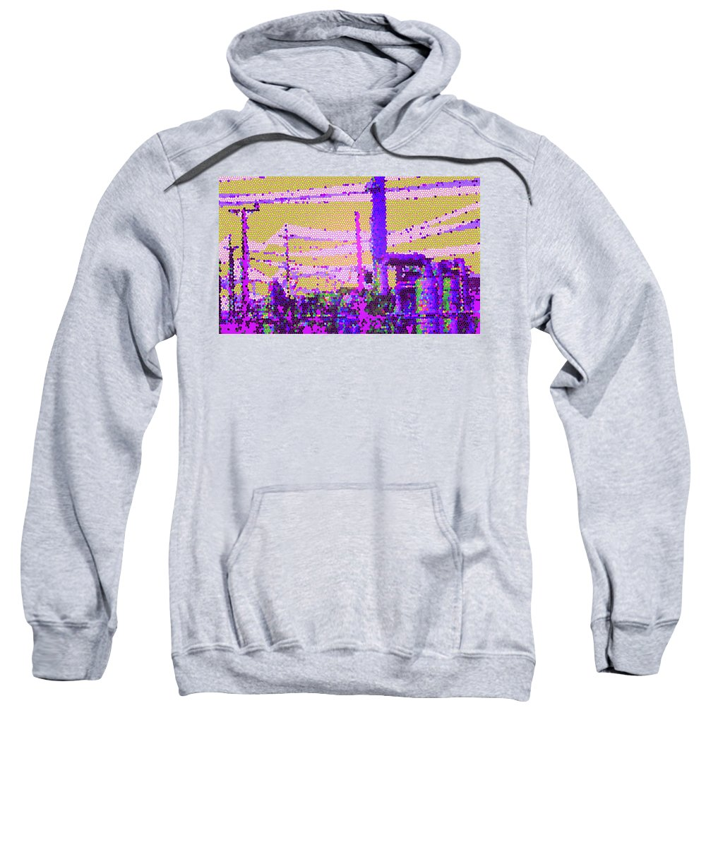 Mosaic Sweatshirt featuring the digital art Industry 2 by Ian MacDonald