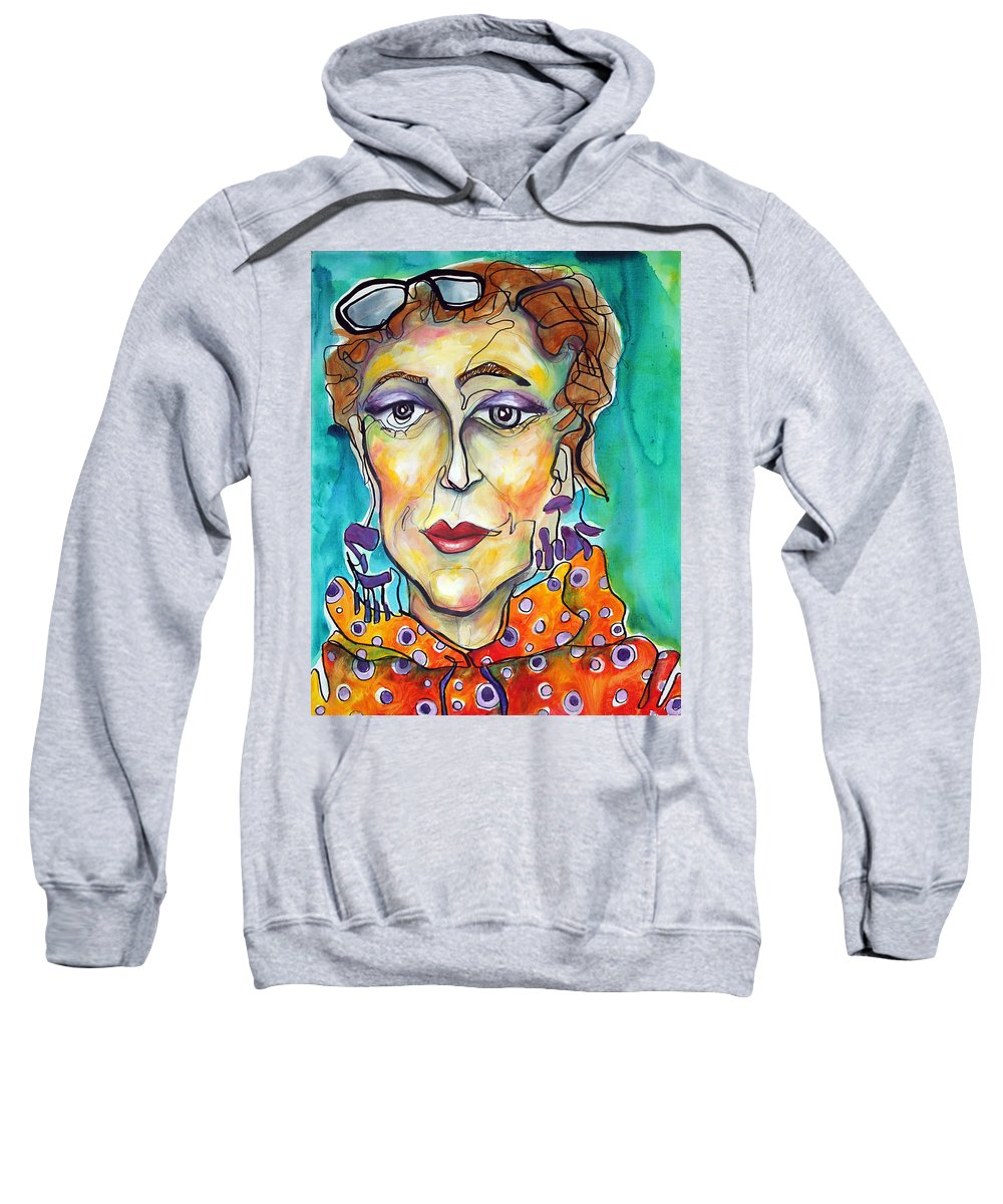 Portrait Sweatshirt featuring the painting Infinity by Darcy Lee Saxton