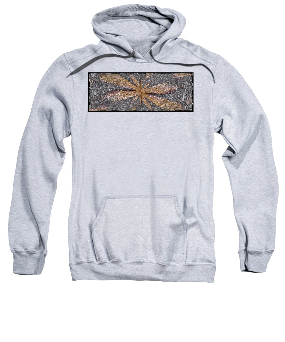 Abstract Sweatshirt featuring the digital art Influx by Tim Allen