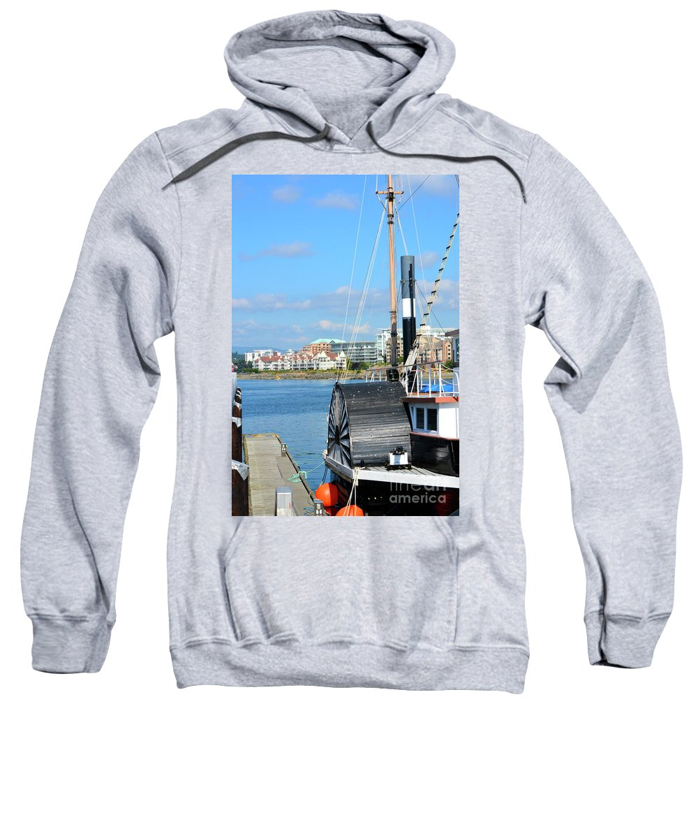 British Columbia Sweatshirt featuring the photograph Inner Harbour2 by Traci Cottingham