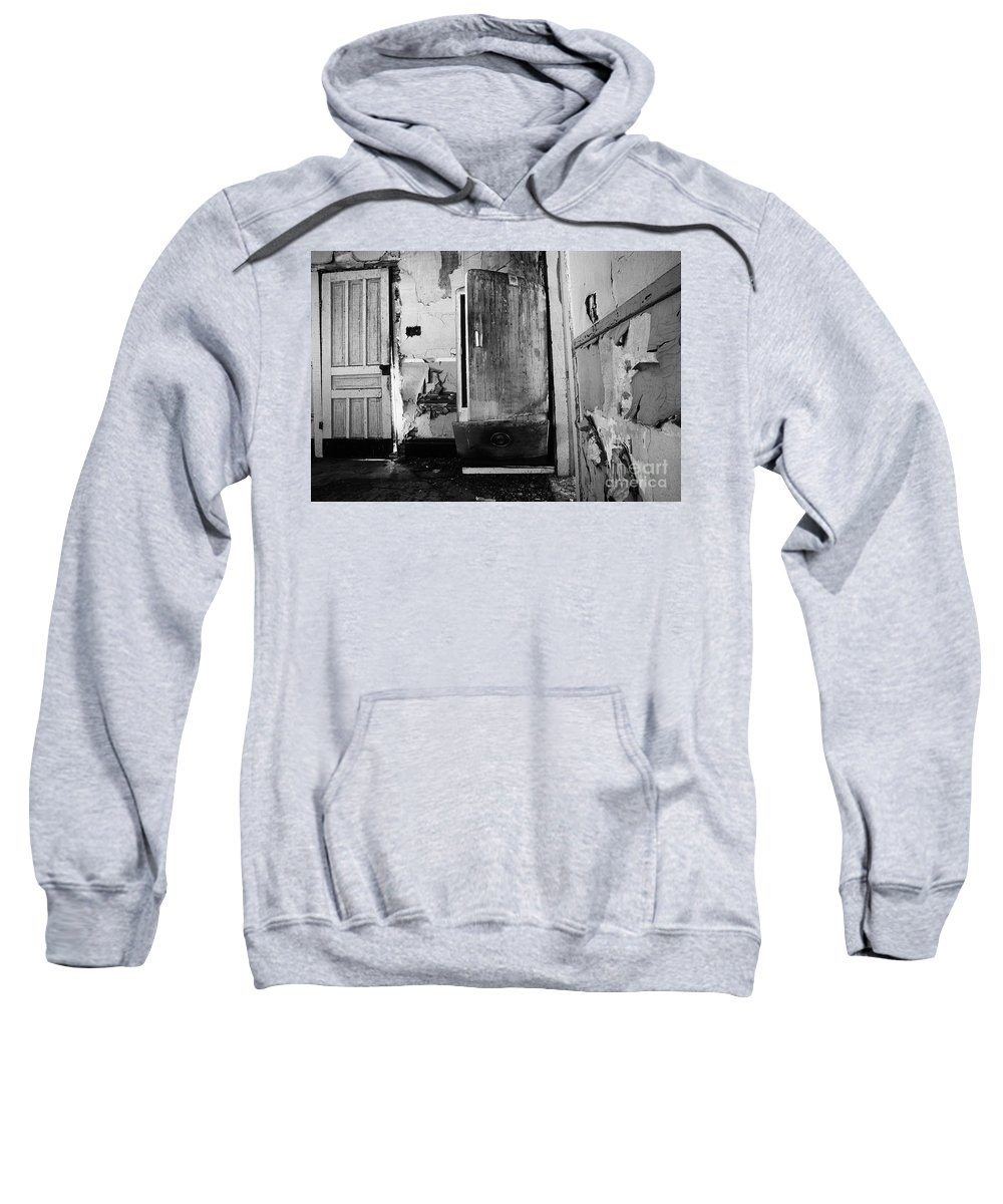 Interior Sweatshirt featuring the photograph Interior In Black And White by Bob Christopher