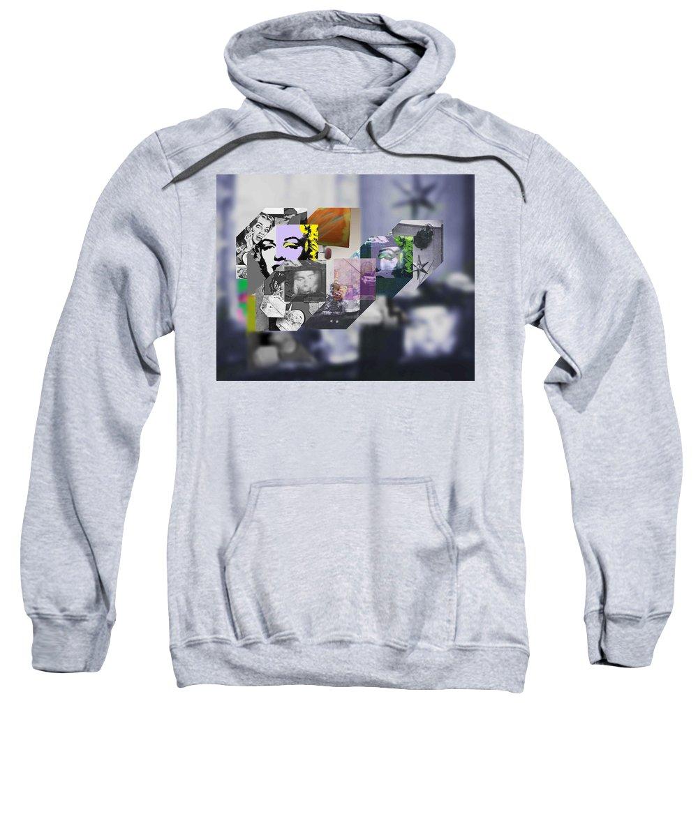 Harlem Sweatshirt featuring the painting Interior Iv by Charles Stuart