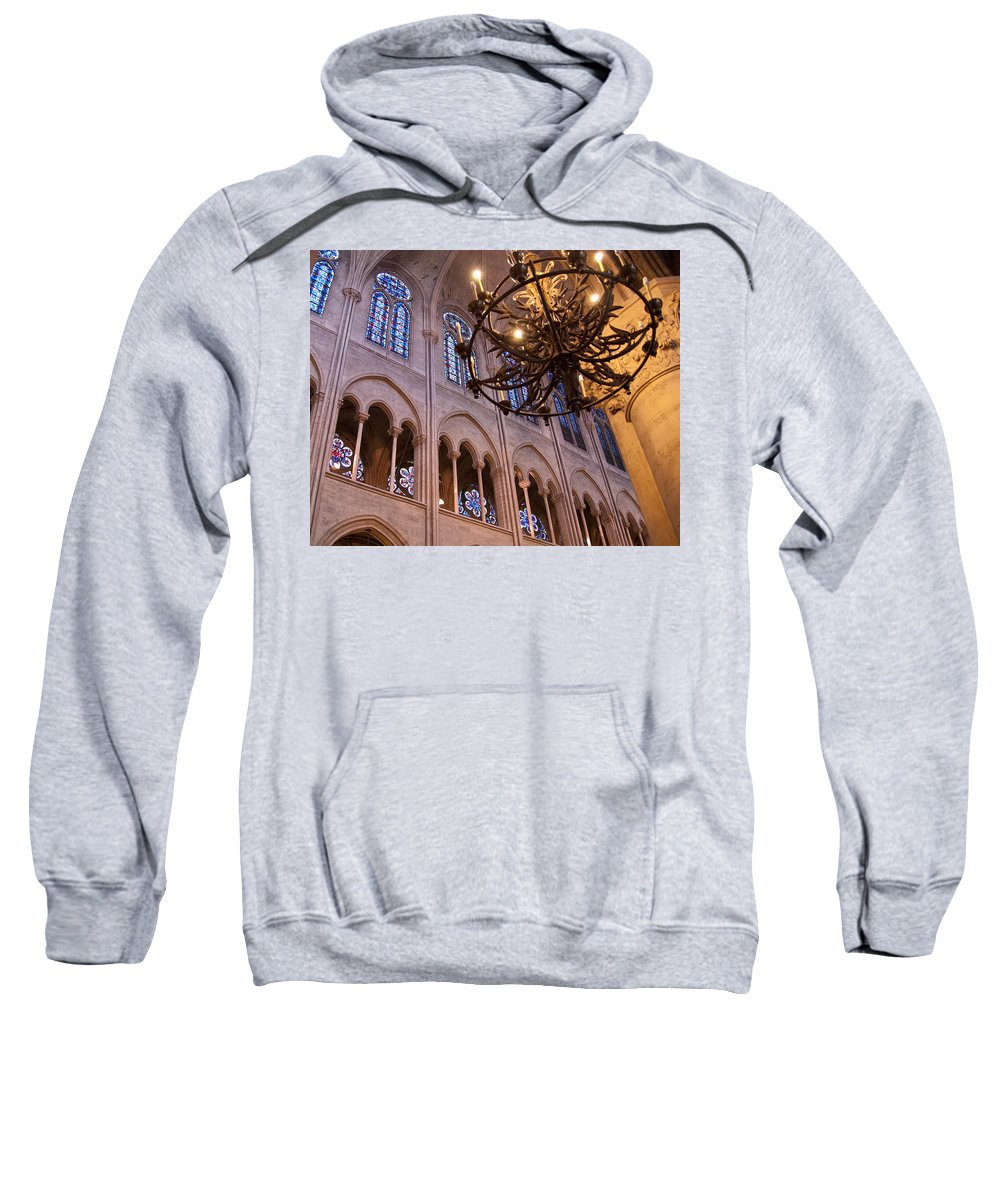 France Sweatshirt featuring the photograph Interior Notre Dame Cathedral by Jon Berghoff