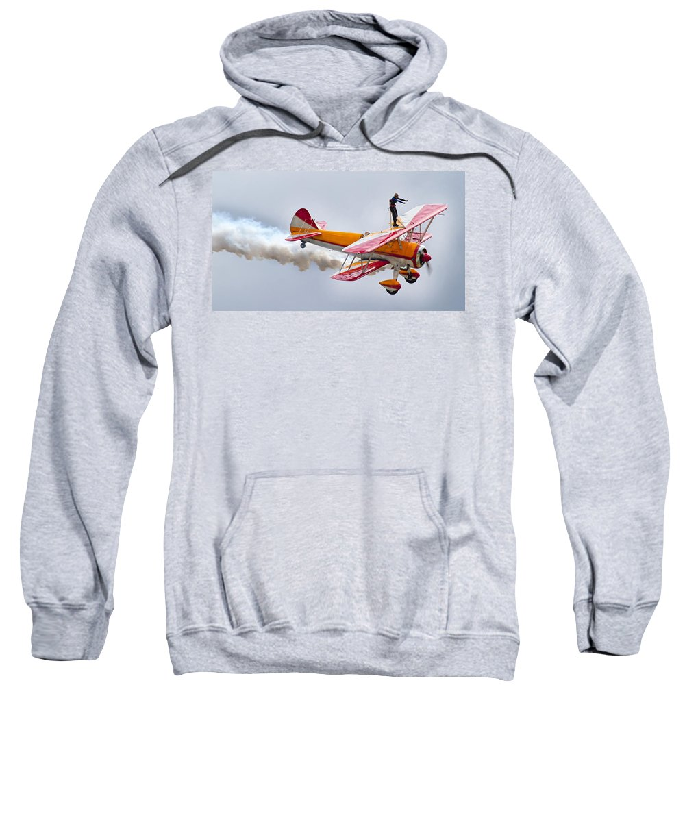 Airplane Sweatshirt featuring the photograph Into The Wind by Betsy Knapp