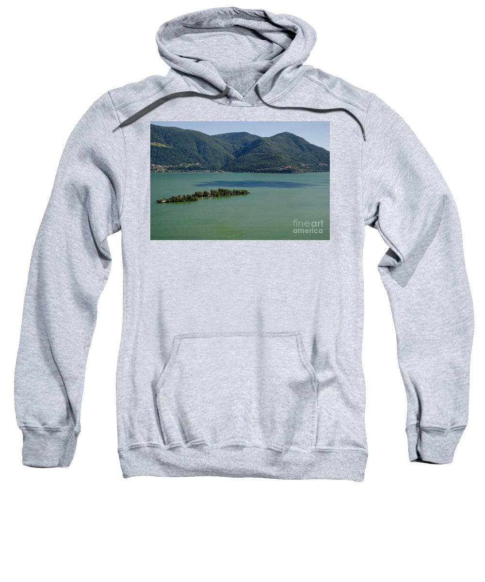 Island Sweatshirt featuring the photograph Islands On An Alpine Lake With A Shadow by Mats Silvan