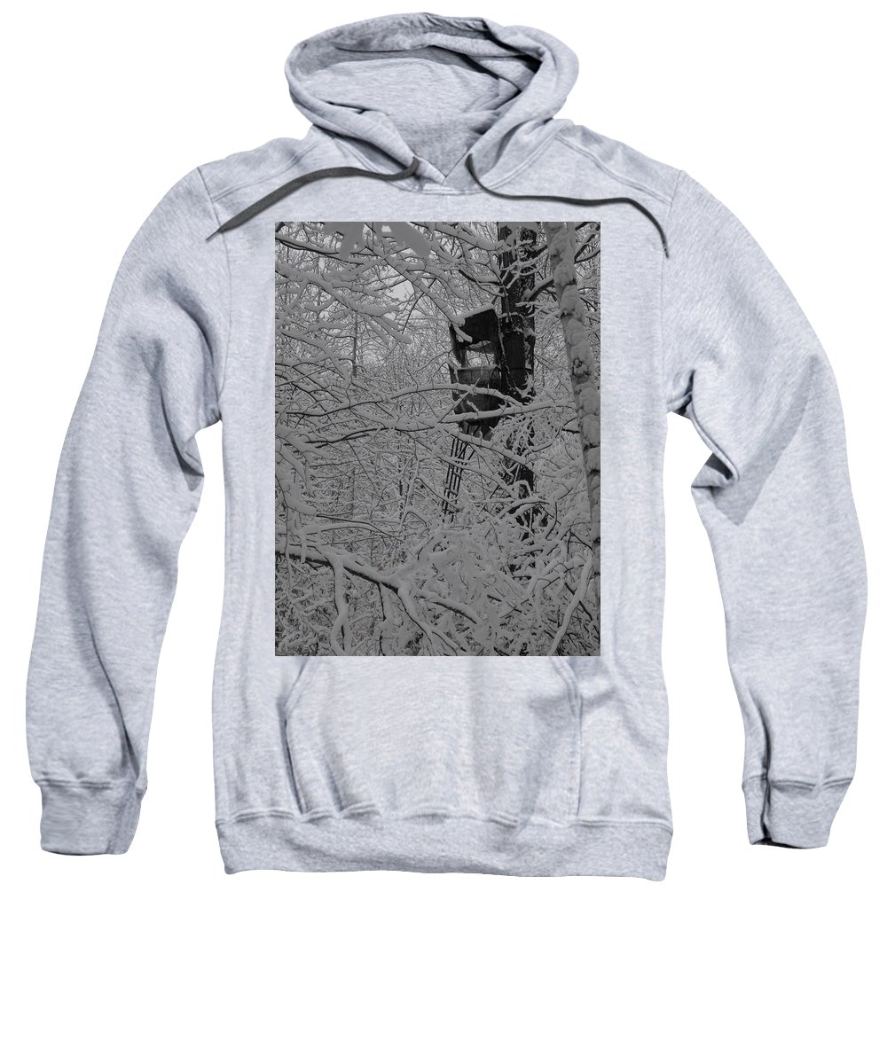 Snow Sweatshirt featuring the photograph It's Not Camouflaged Anymore by Stephanie Kripa