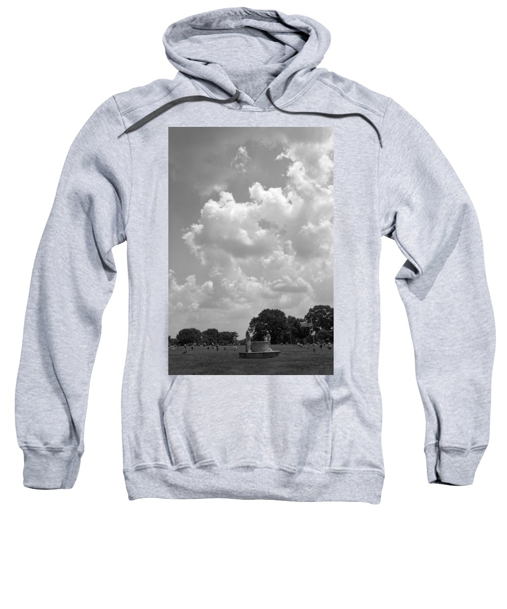 Jesus Sweatshirt featuring the photograph Jesus And The Woman At The Well by Kathy Clark