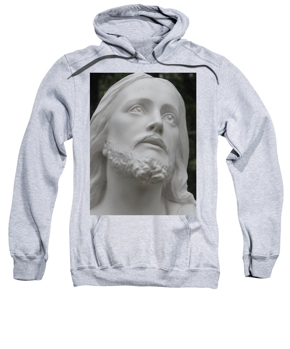 Jesus Statue Sweatshirt featuring the photograph Jesus by Michele Nelson