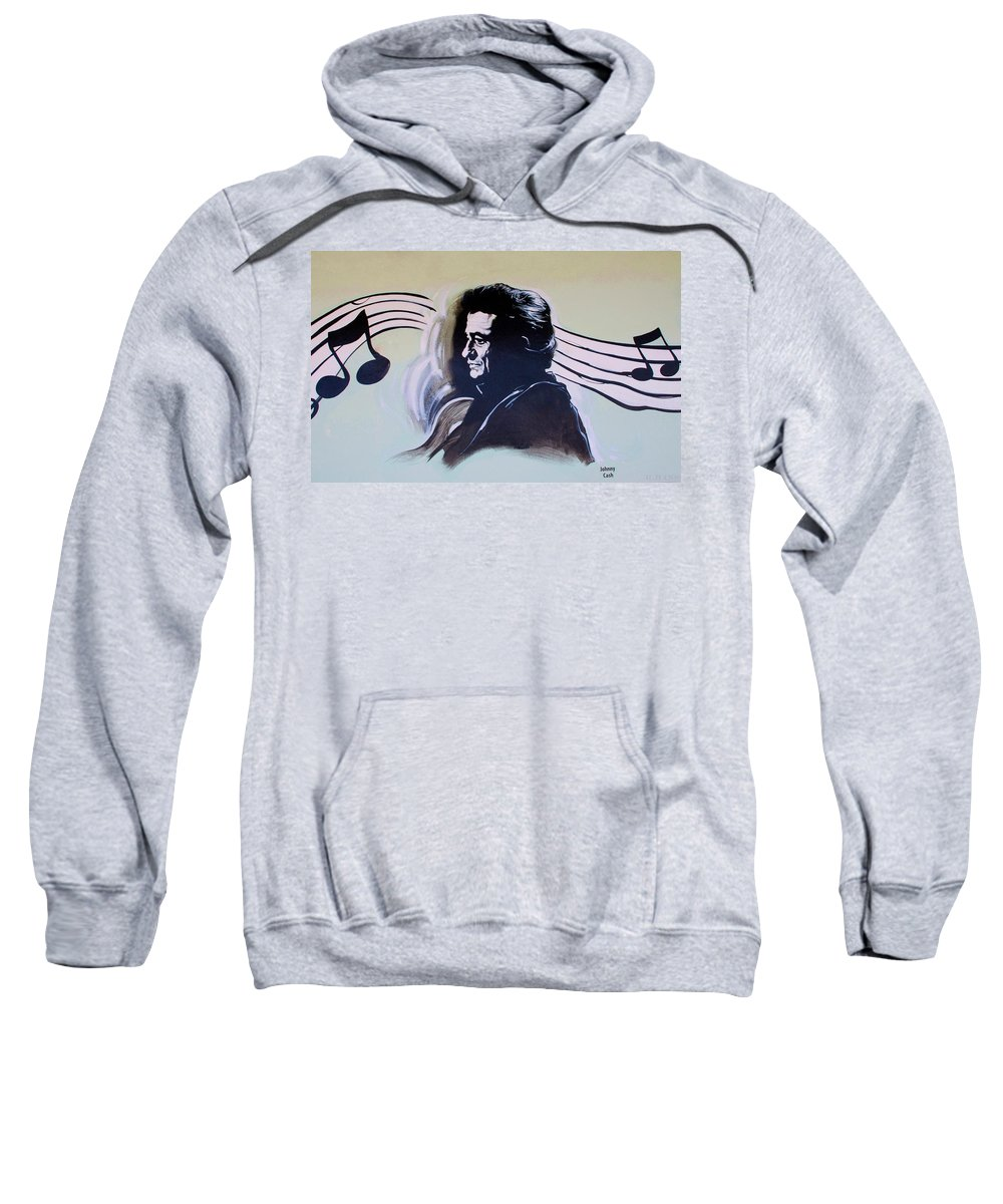 Johnny Cash Sweatshirt featuring the photograph Johnny Cash by Rob Hans