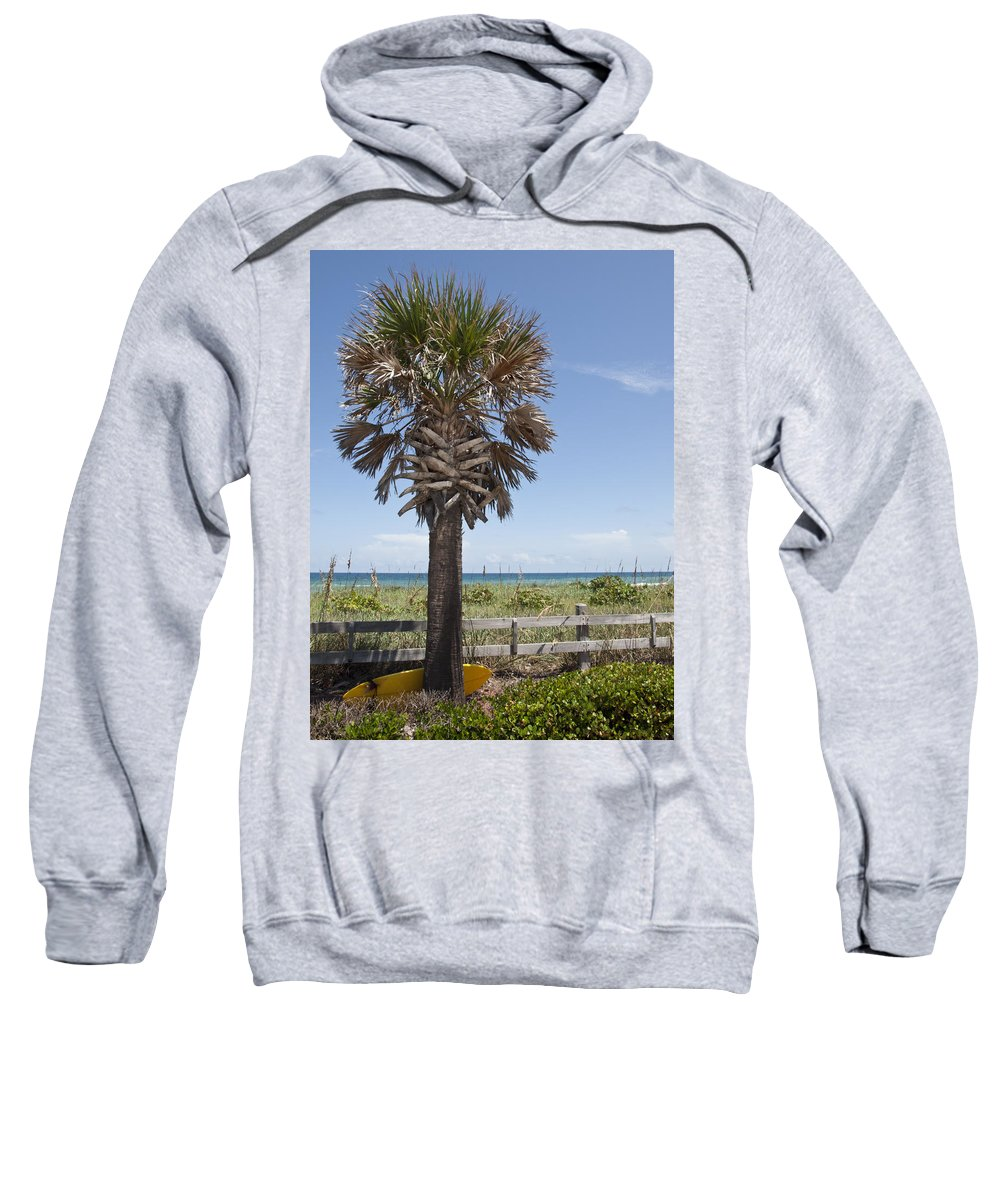 Florida Sweatshirt featuring the photograph Juan Ponce De Leon Landing Site In Florida by Allan Hughes
