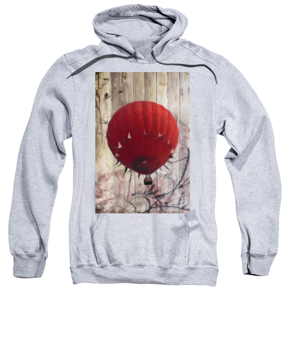Hot Air Balloon Sweatshirt featuring the photograph Just Floatin' Around by Trish Tritz
