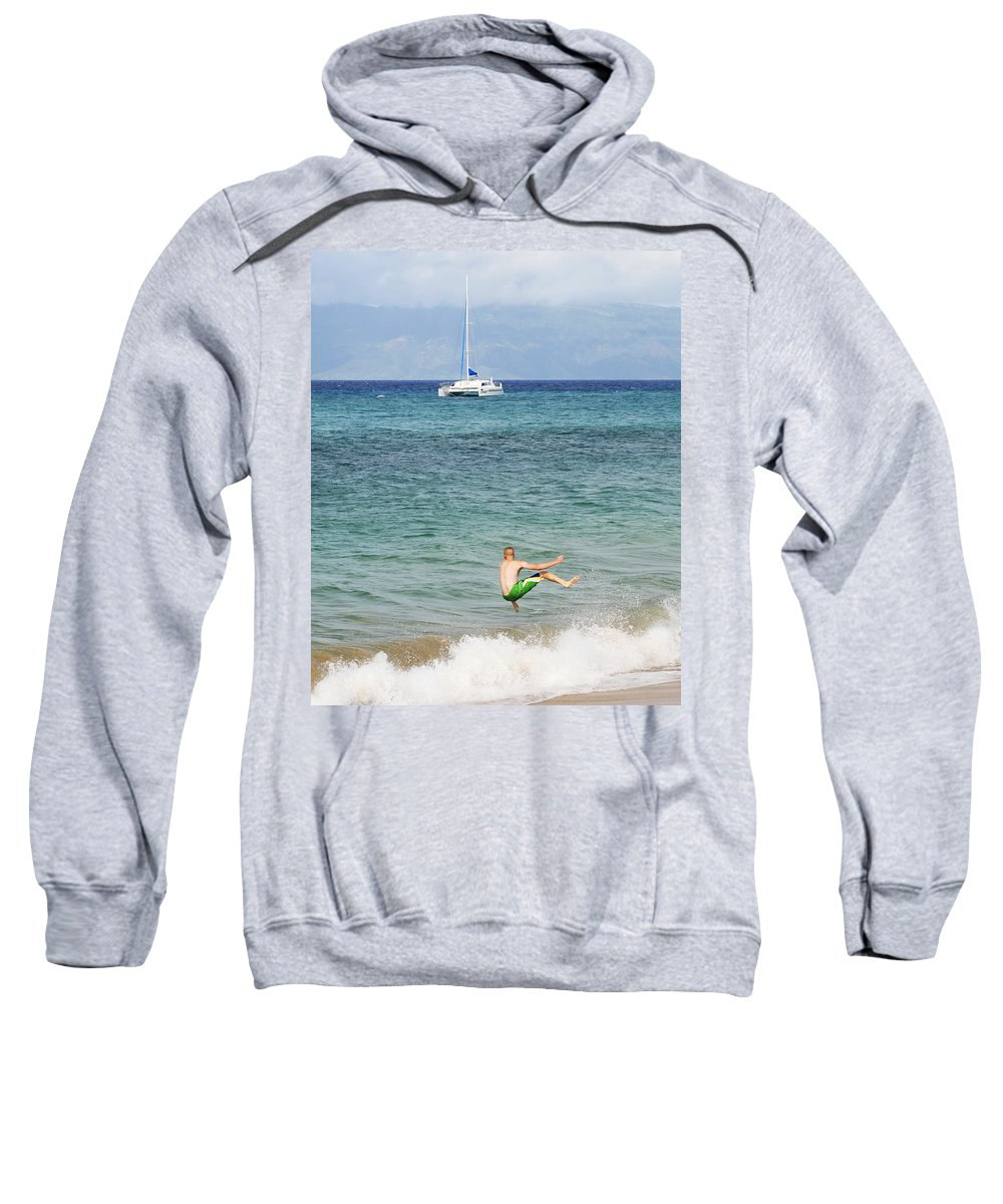 Fooling Sweatshirt featuring the photograph Just Foolin' Around by Marilyn Hunt