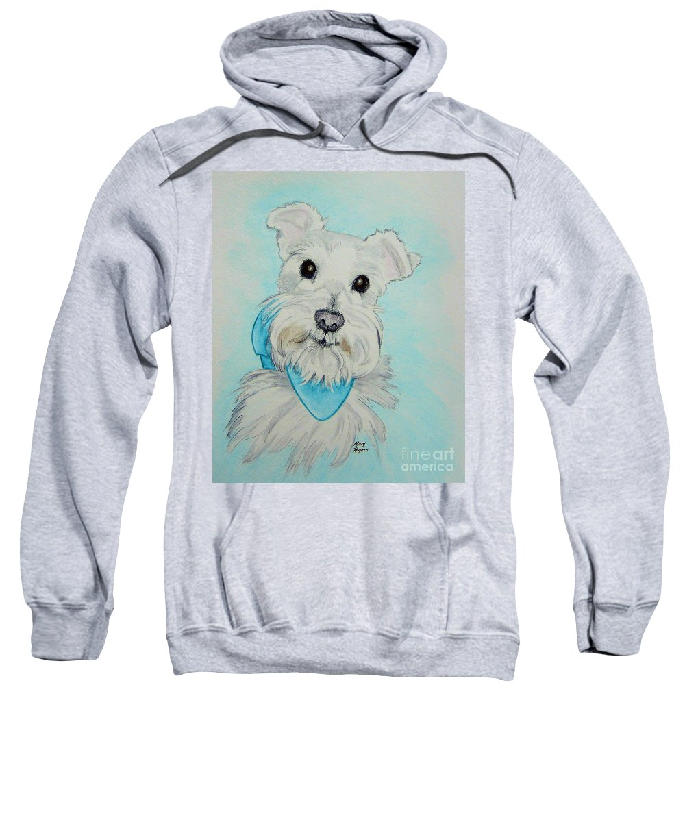 Dog Sweatshirt featuring the drawing Kaja by Mary Rogers