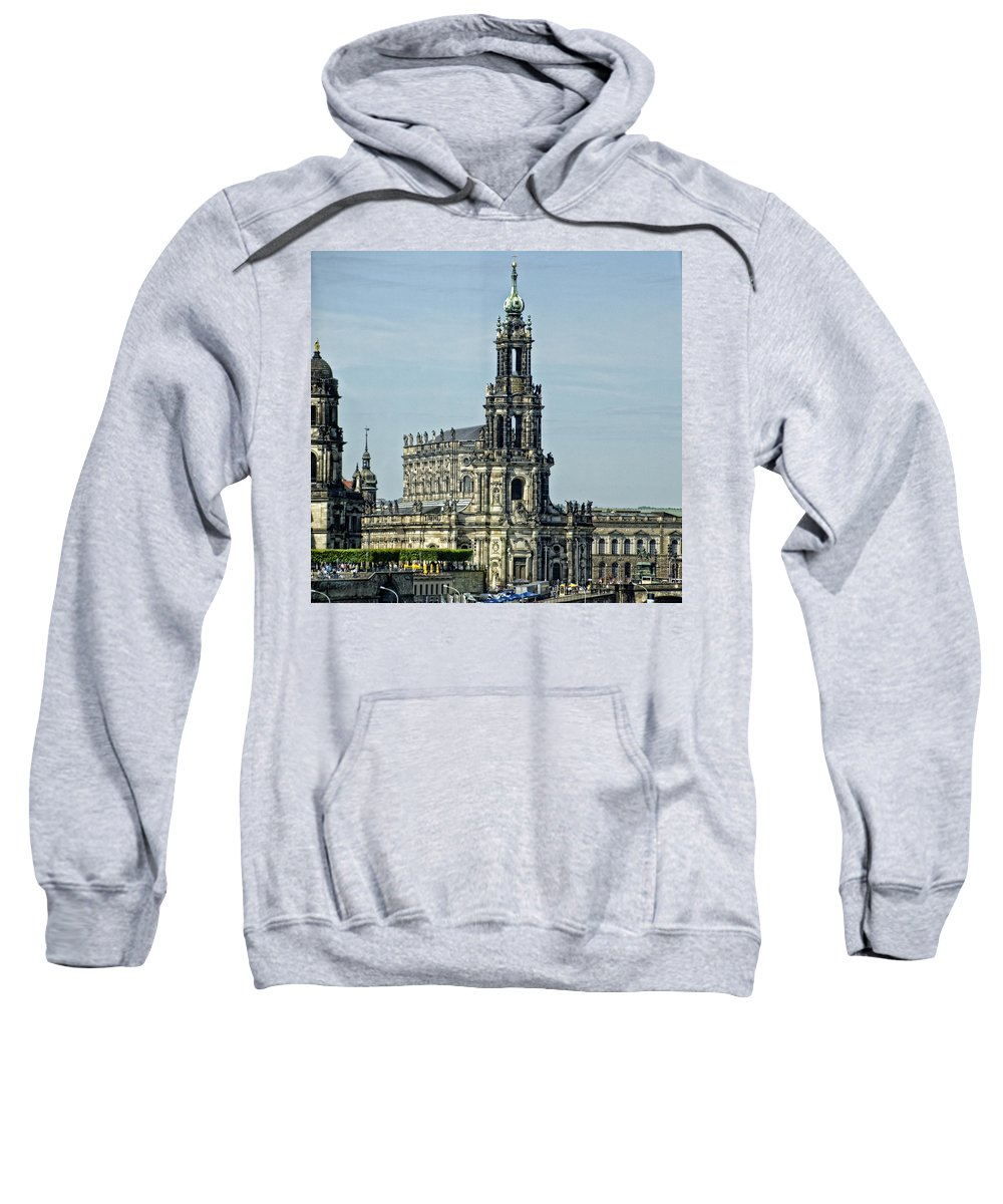 Katholische Hofkirche Sweatshirt featuring the photograph Katholische Hofkirche - Dresden by Jon Berghoff