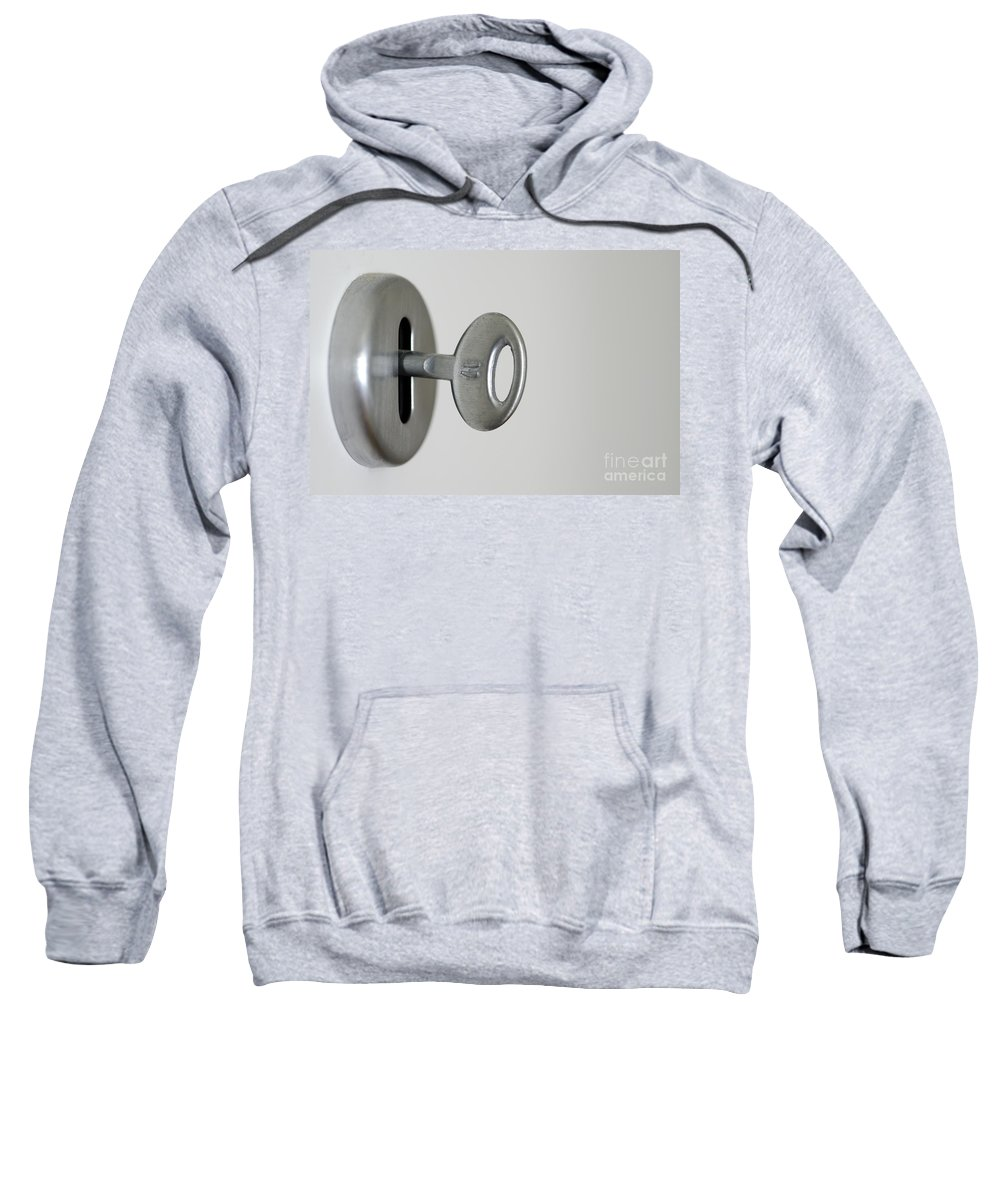 Key Sweatshirt featuring the photograph Keyhole With Key by Mats Silvan