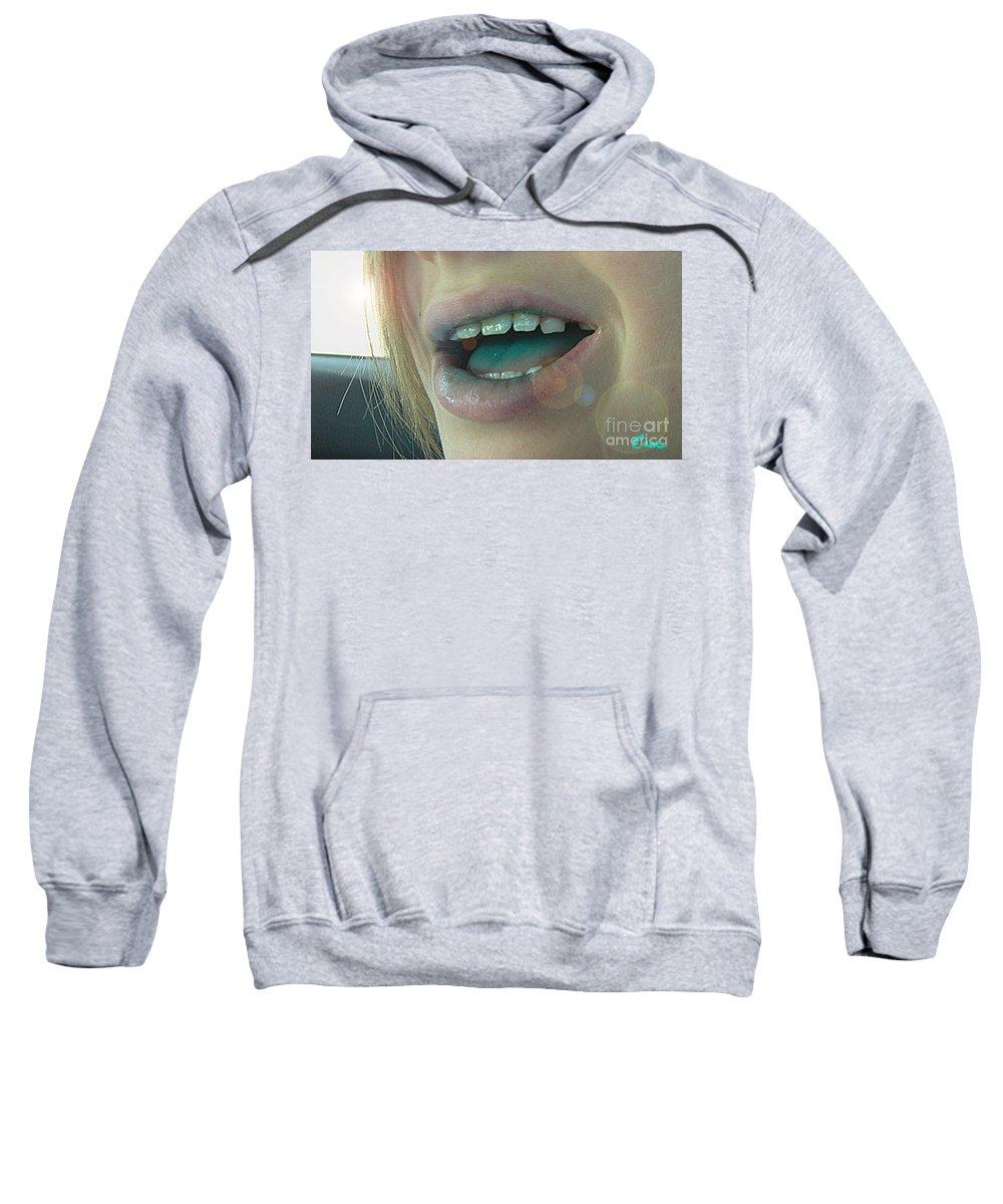 Kids With Candy Sugar High Sweatshirt featuring the digital art Kids With Candy Sugar High by Feile Case