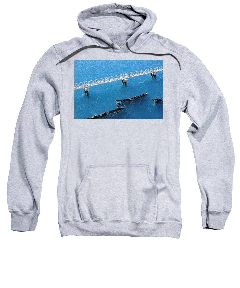 Bermuda Sweatshirt featuring the photograph King's Wharf by Luke Moore