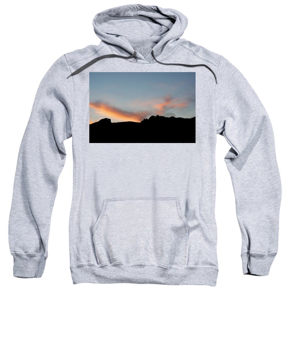 Kissing Camels Sweatshirt featuring the photograph Kissing Camels Sunset by Ernie Echols
