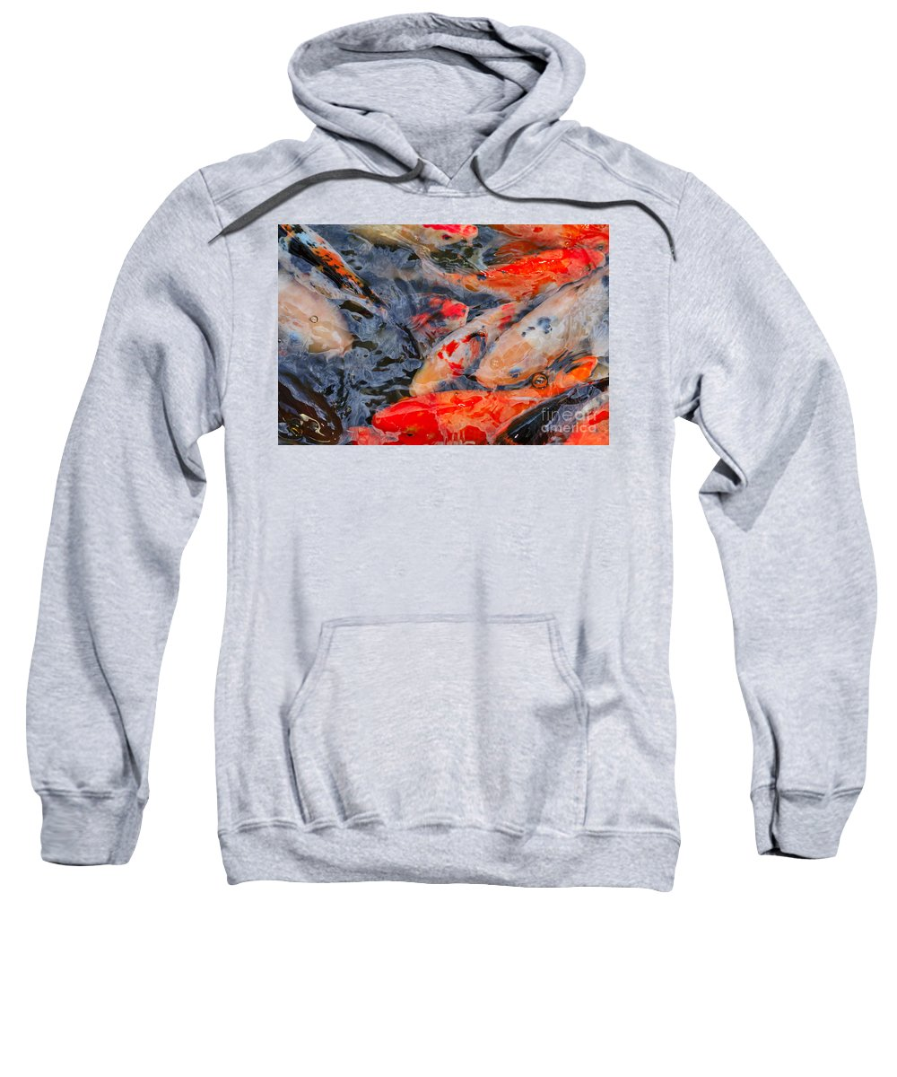 Koi Sweatshirt featuring the photograph Koi Pond II by Louise Heusinkveld