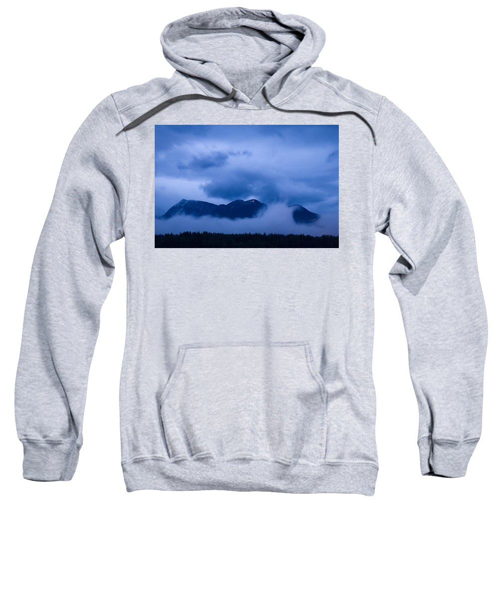 Krvavec Sweatshirt featuring the photograph Krvavec Breaks Through After The Rain by Ian Middleton