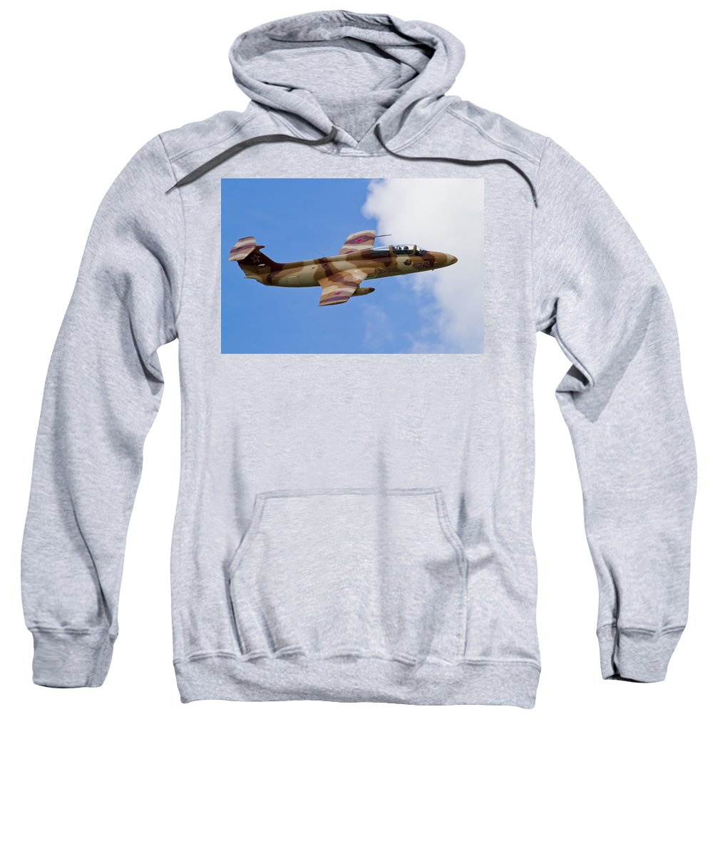 Airshows Sweatshirt featuring the photograph L-29 Delphin by Bill Lindsay