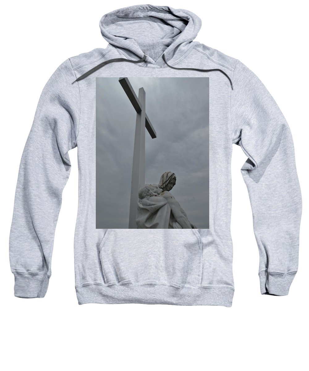 Lady Of Calvery Sweatshirt featuring the photograph Lady And Cross by Michele Nelson