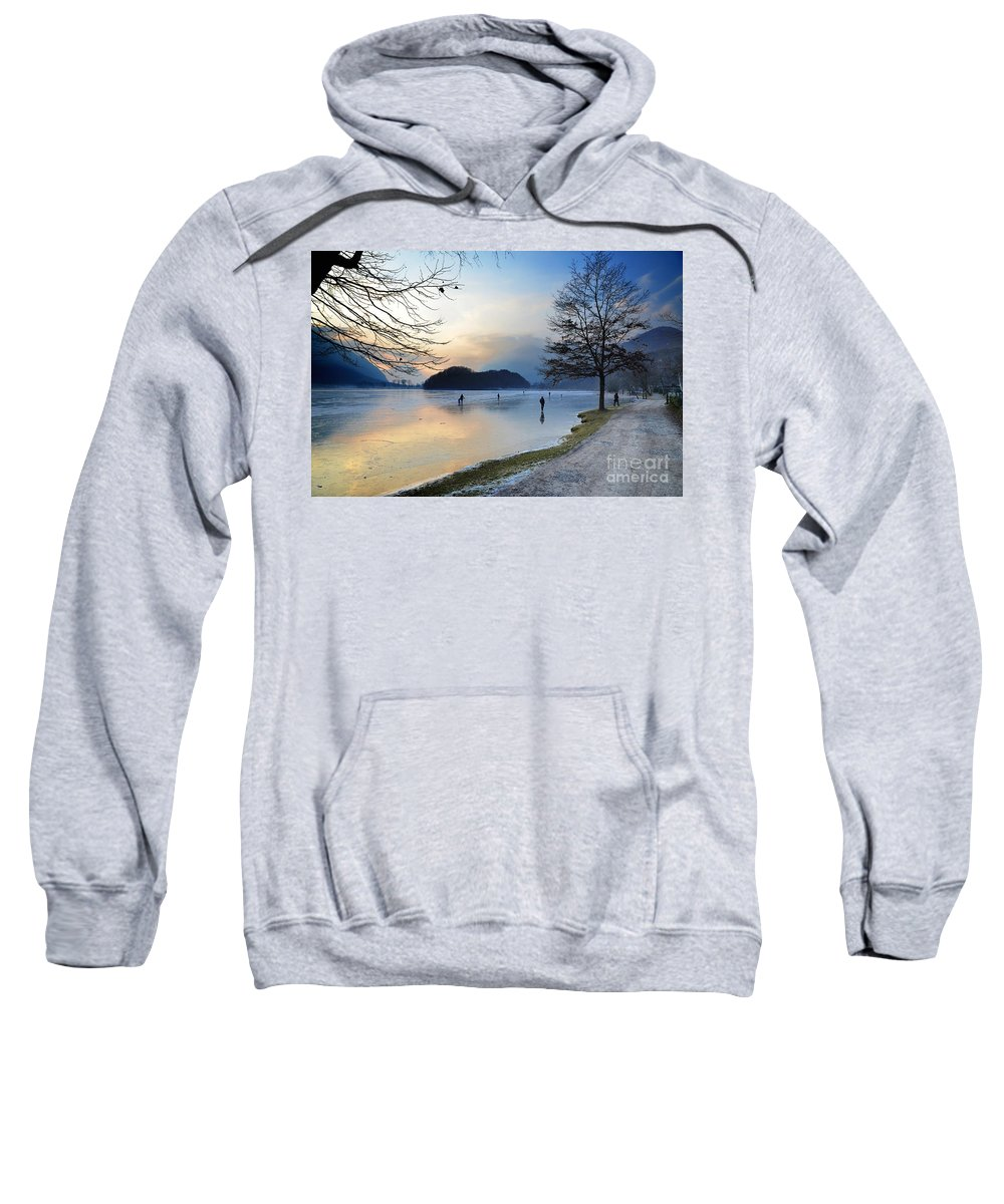 Ice Sweatshirt featuring the photograph Lake With Ice by Mats Silvan