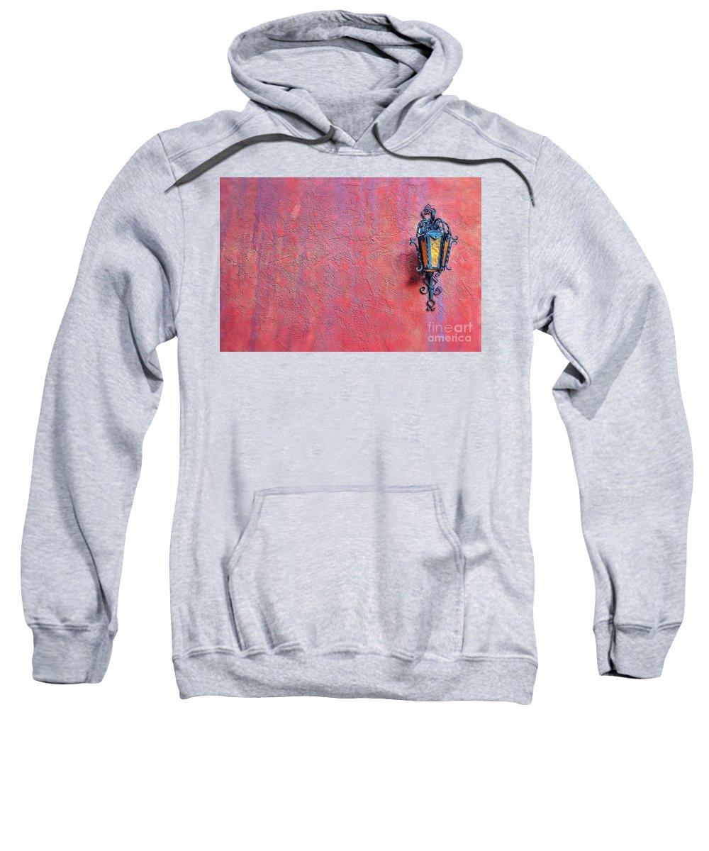 2011 Sweatshirt featuring the photograph Lantern And Adobe Wall by Matt Suess