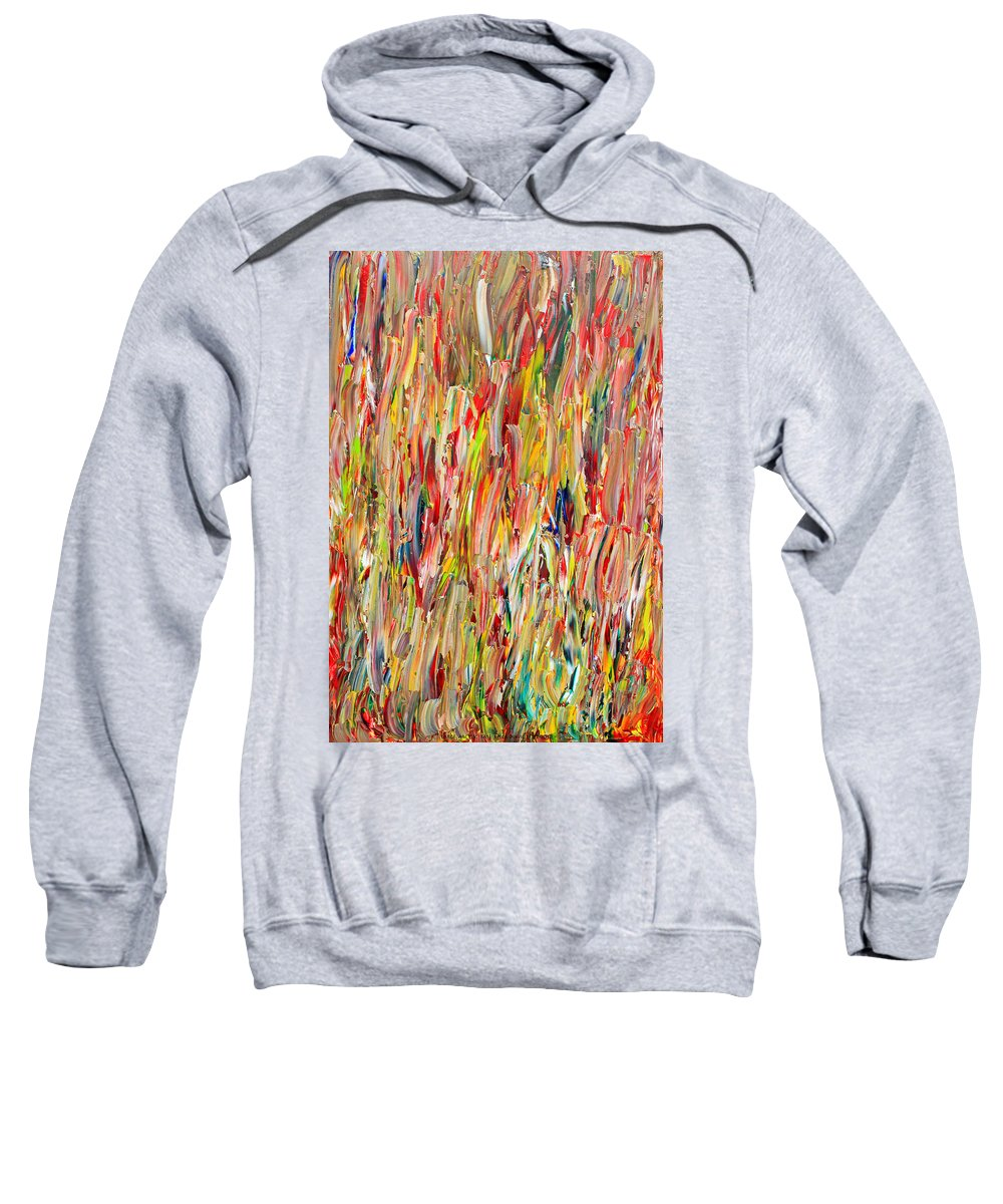 Original Sweatshirt featuring the painting Large Acrylic Color Study 2012 by Carl Deaville