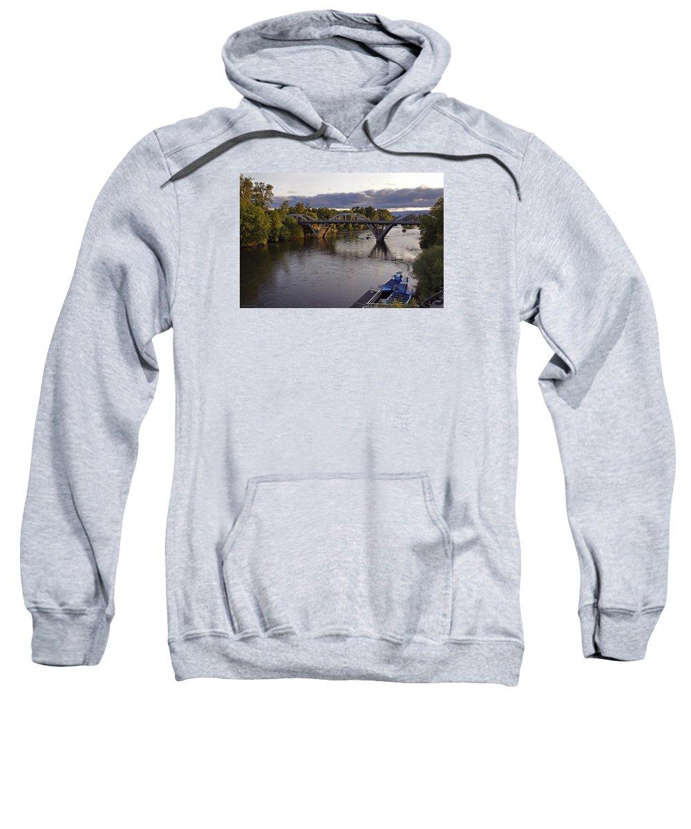 Caveman Sweatshirt featuring the photograph Last Light On Caveman Bridge by Mick Anderson