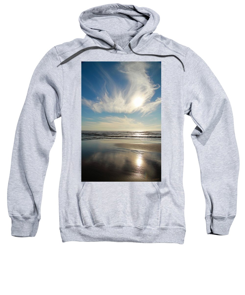 Late Sweatshirt featuring the photograph Late Afternoon On An Oregon Beach by Mick Anderson