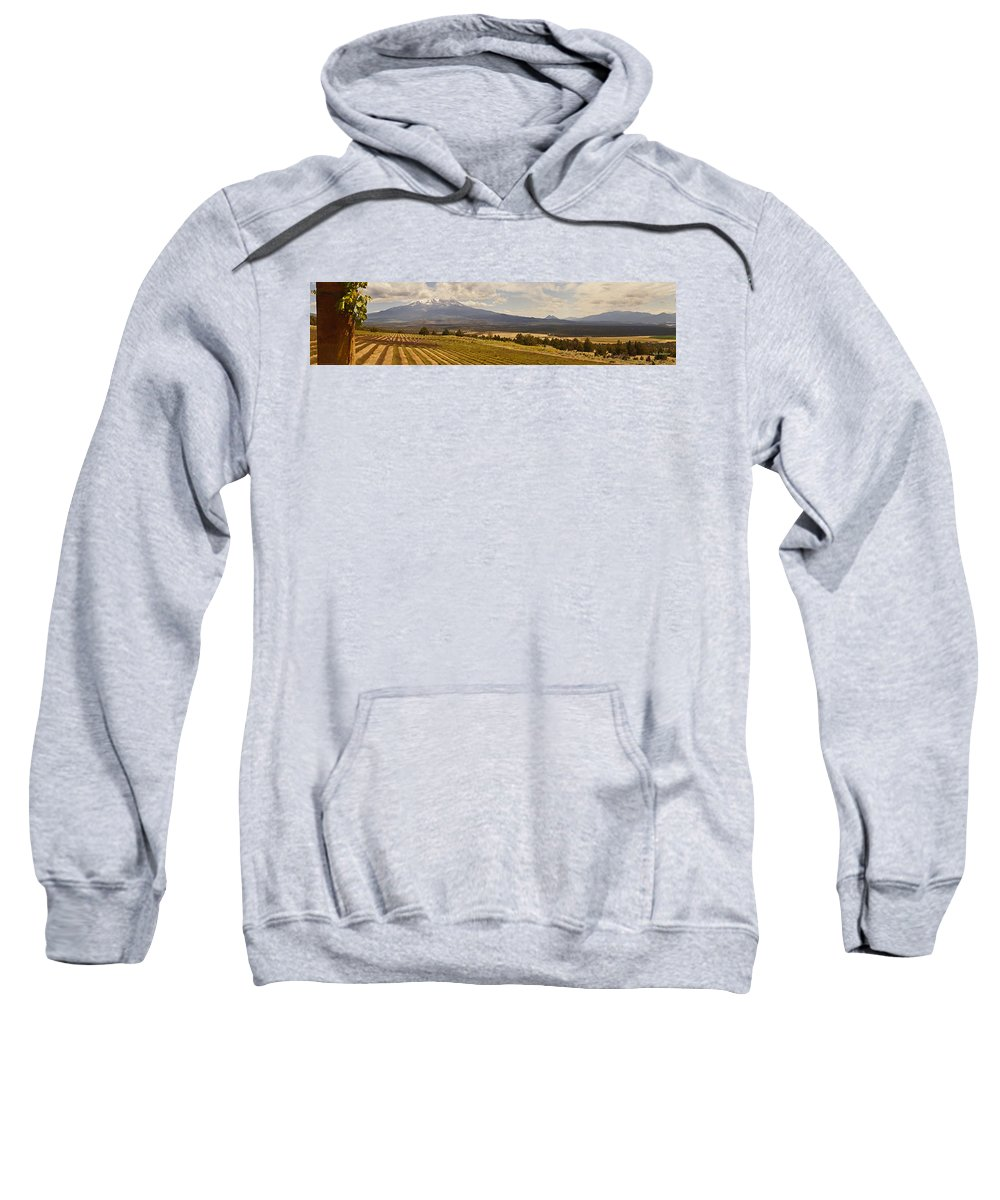 Panorama Sweatshirt featuring the photograph Lavender Farm Panorama by Mick Anderson