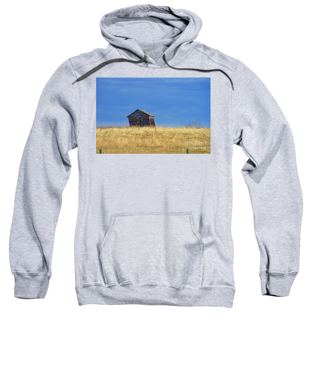 Old Barn Sweatshirt featuring the photograph Leaning Barn by Randy Harris
