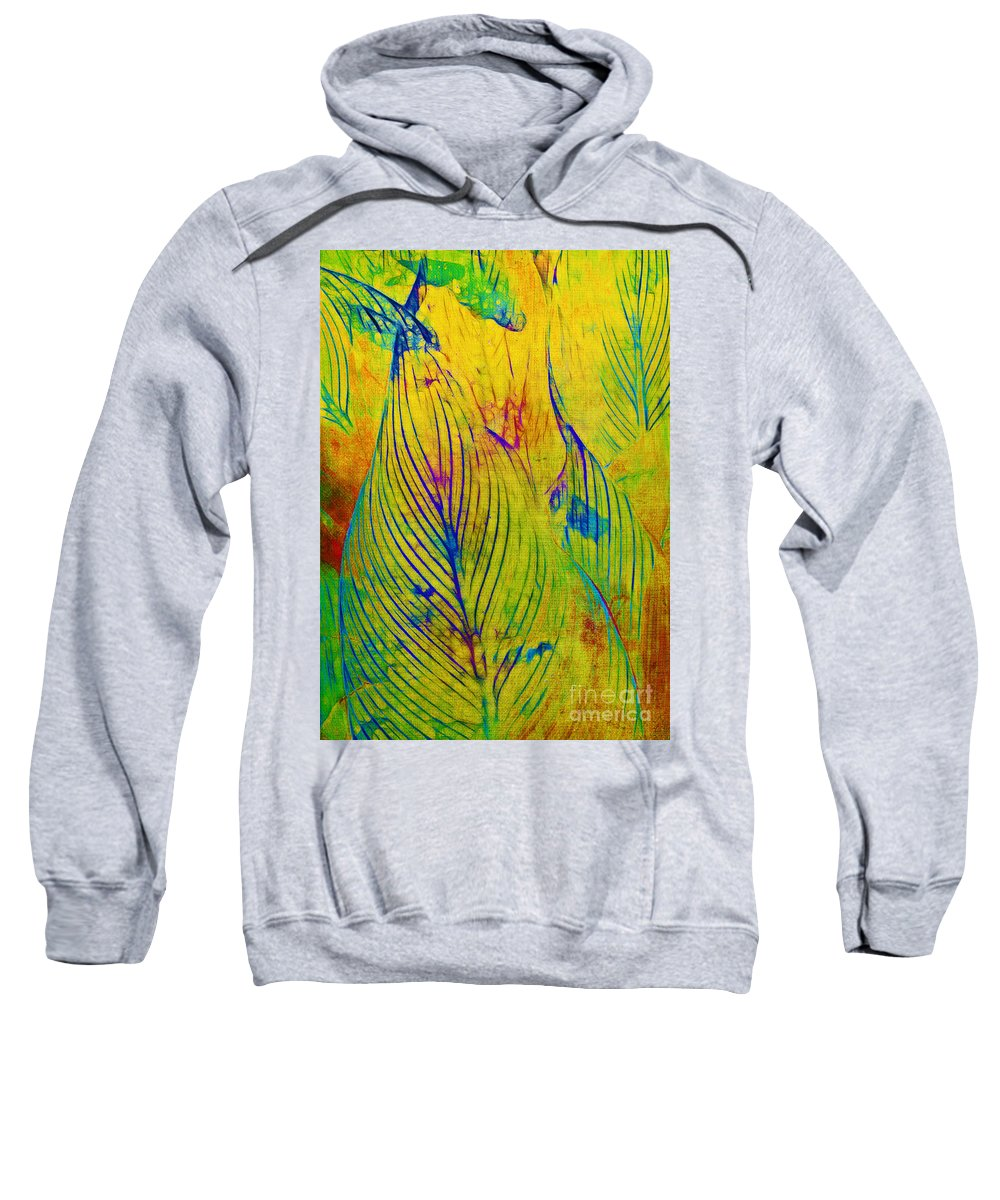 Jungle Sweatshirt featuring the photograph Leaves In The Jungle by Judi Bagwell