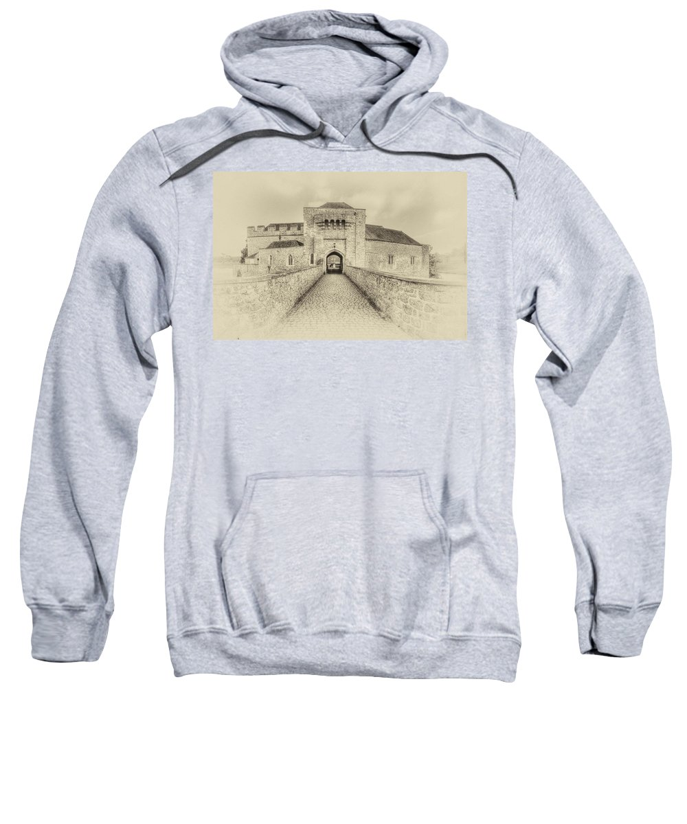 Nostalgic Sweatshirt featuring the photograph Leeds Castle Nostalgic 3 by Chris Thaxter