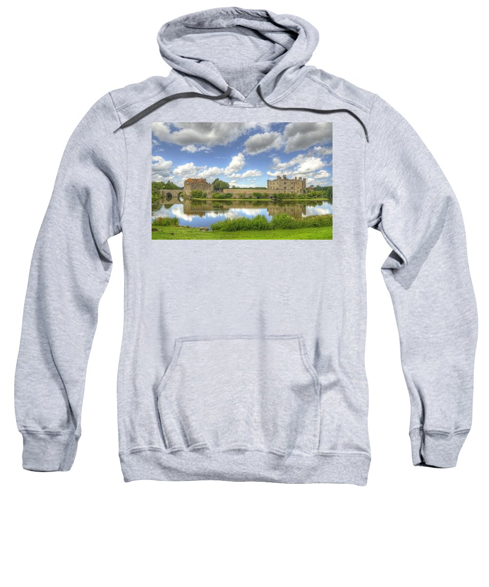 Castle Sweatshirt featuring the photograph Leeds Castle Reflected by Chris Thaxter
