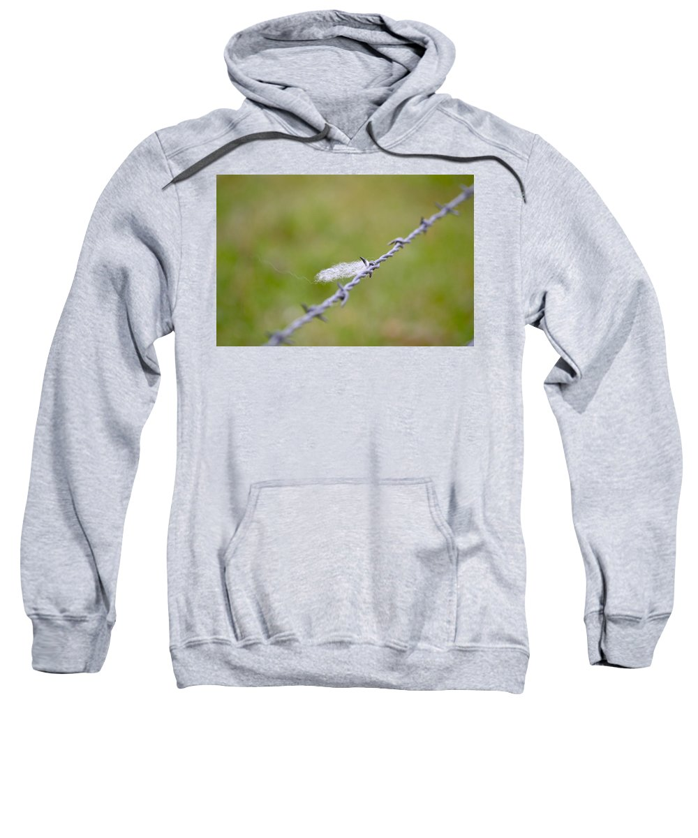 Barbed Wire Sweatshirt featuring the photograph Left Behind by Bill Owen