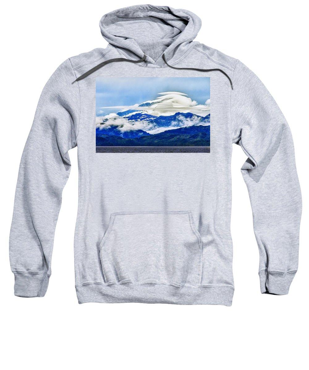 Alaska Sweatshirt featuring the photograph Lenticular And The Chugach Mountains by Rick Berk